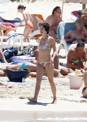 Lena Headey Bikini Photos: at a beach in Ibiza -11