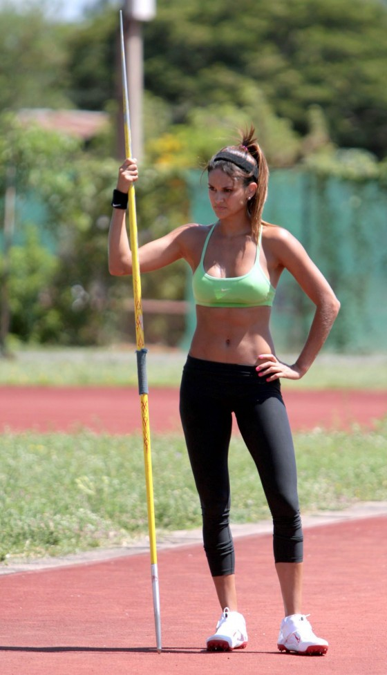 Leryn Franco - Looking Hot at Training Session - Ascencion, Paraguay
