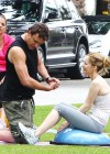 Leslie Mann Workout In Spandex for This is Forty - LA-07