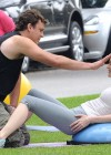Leslie Mann Workout In Spandex for This is Forty - LA-08