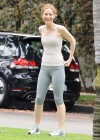 Leslie Mann Workout In Spandex for This is Forty - LA-11