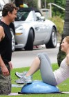 Leslie Mann Workout In Spandex for This is Forty - LA-18