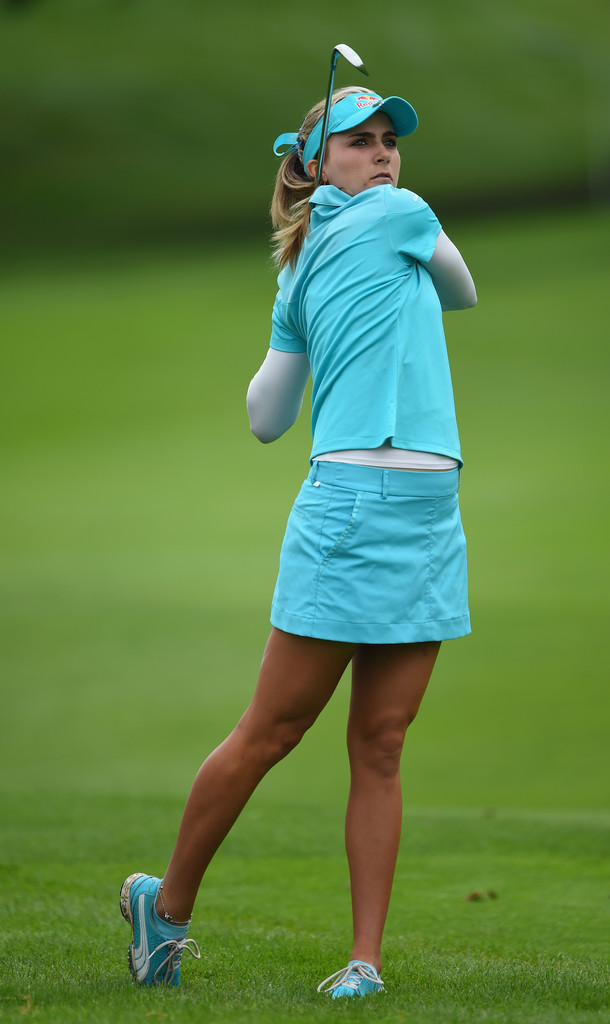 Lexi Thompson at The Evian Championship at the Evian Resort Golf Club