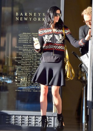 Liberty Ross in Mini Skirt - Leaves Barneys in LA