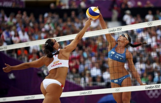 Liliana Fernandez sexy at Olympic Games
