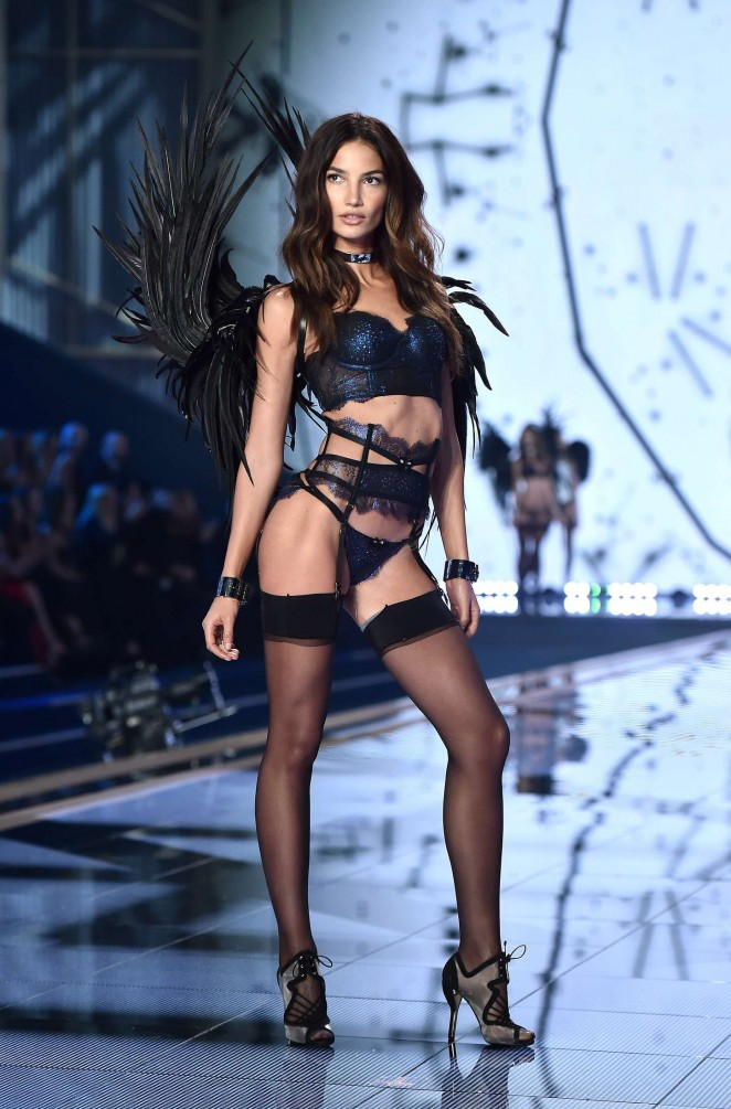 Lily Aldridge - 2014 Victoria's Secret Fashion Show Runway in NYC