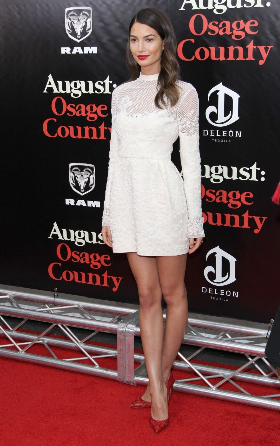 """Lily Aldridge – """"August: Osage County"""" Premiere in NYC"""