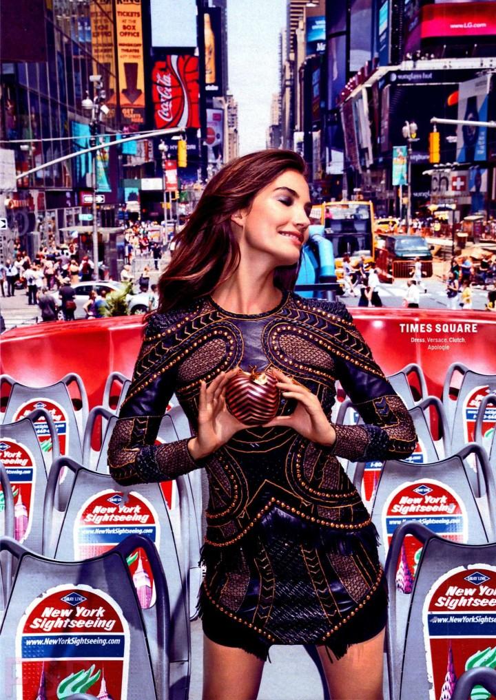 Lily Aldridge – Cosmopolitan USA Magazine (October 2014)