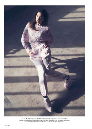 Lily Aldridge: Elle US -10