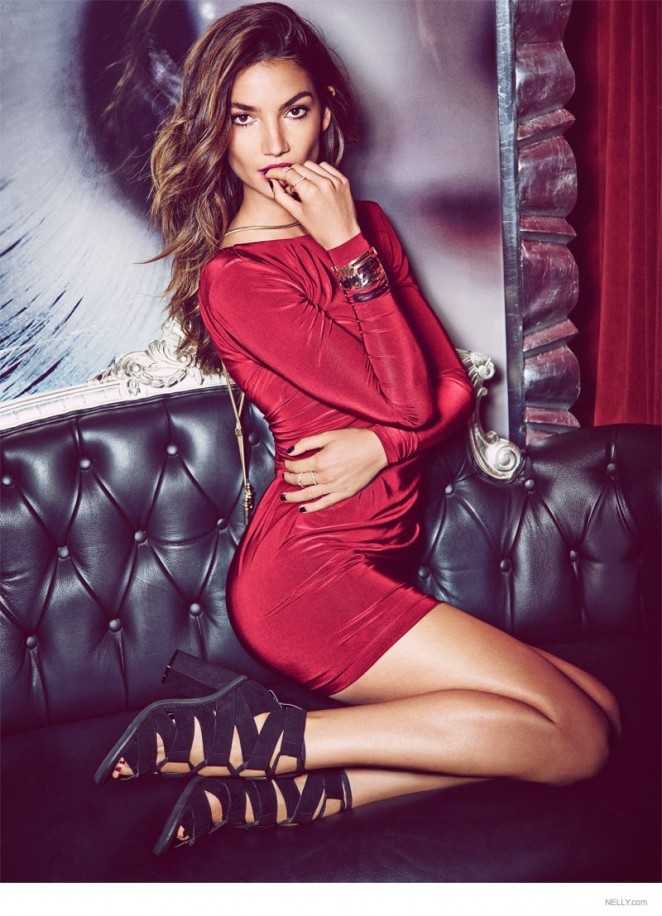 "Lily Aldridge - Nelly.com ""New Icons"" Campaign 2015"