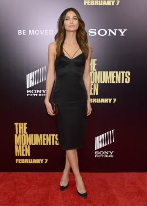 Lily Aldridge: The Monuments Men Premiere -01