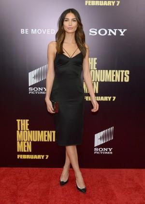 Lily Aldridge: The Monuments Men Premiere -02