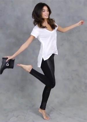 Lily Aldridge: Victorias Secret T-Shirt Bra-11
