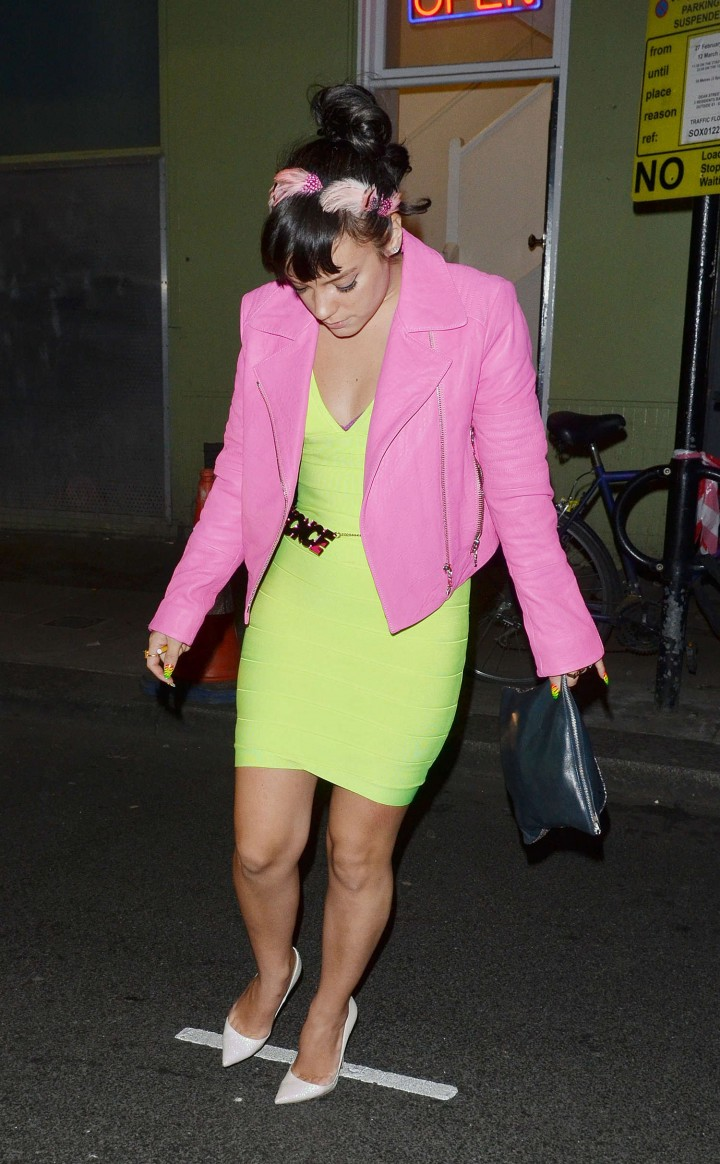 Lily Allen at The Groucho Club -02