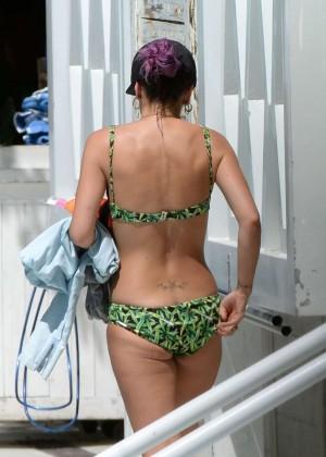 Lily Allen in green bikini -02