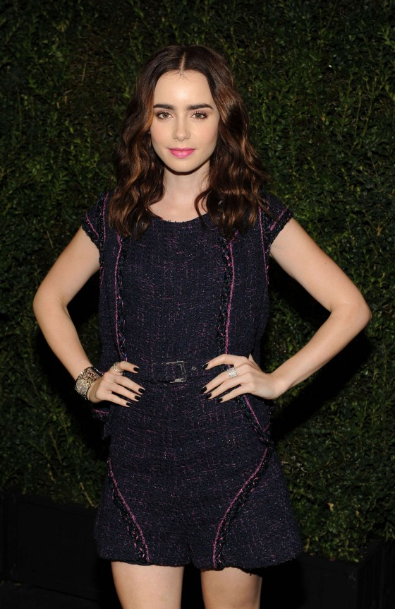 Lily Collins – 2013 Chanel Pre Oscar Dinner in Los Angeles -04