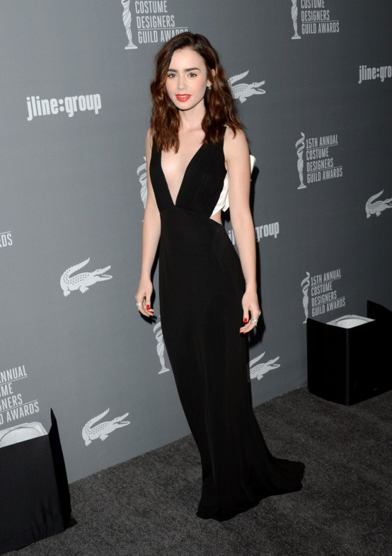 Lily Collins –  2013 Costume Designers Guild Awards -01