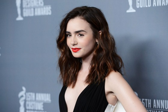 Lily Collins –  2013 Costume Designers Guild Awards -02