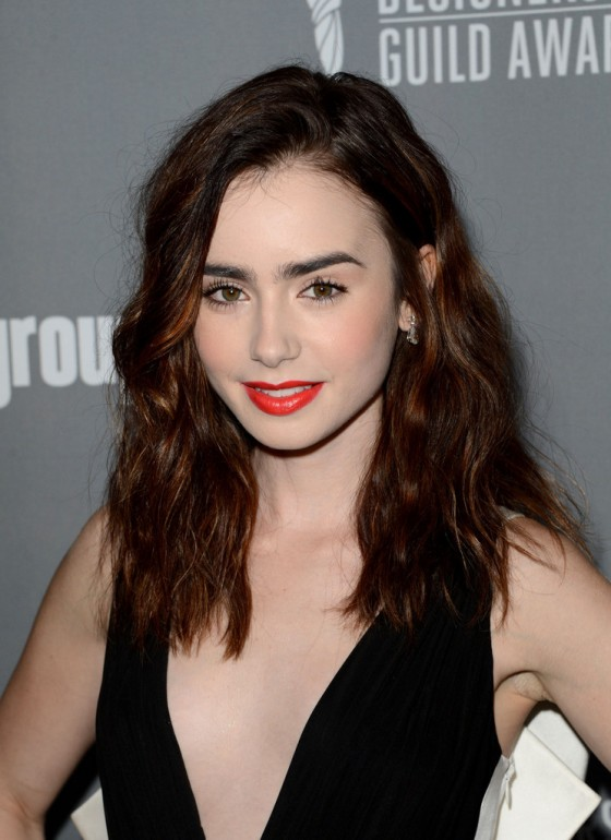 Lily Collins –  2013 Costume Designers Guild Awards -03