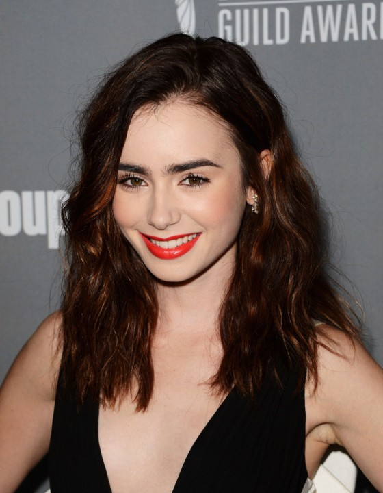 Lily Collins –  2013 Costume Designers Guild Awards -04