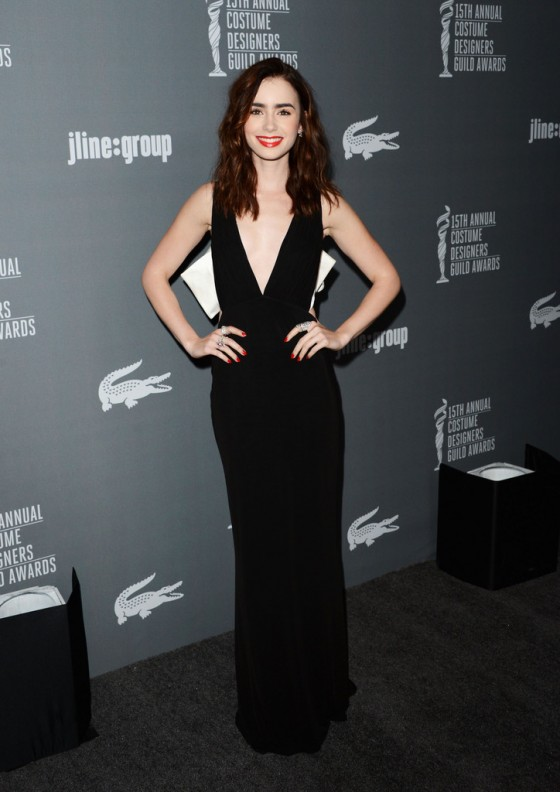 Lily Collins –  2013 Costume Designers Guild Awards -06