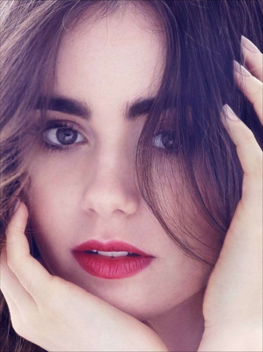 Back to FULL gallery Lily Collins by James White for Yo Dona Magazine Miley Cyrus