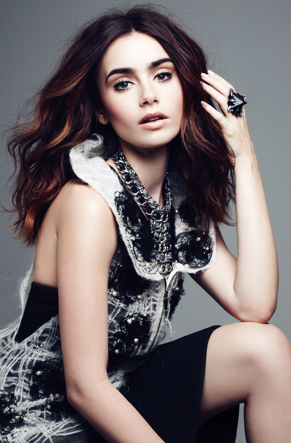 Lily Collins 2013 : Lily Collins: Elle Magazine 2013 -02