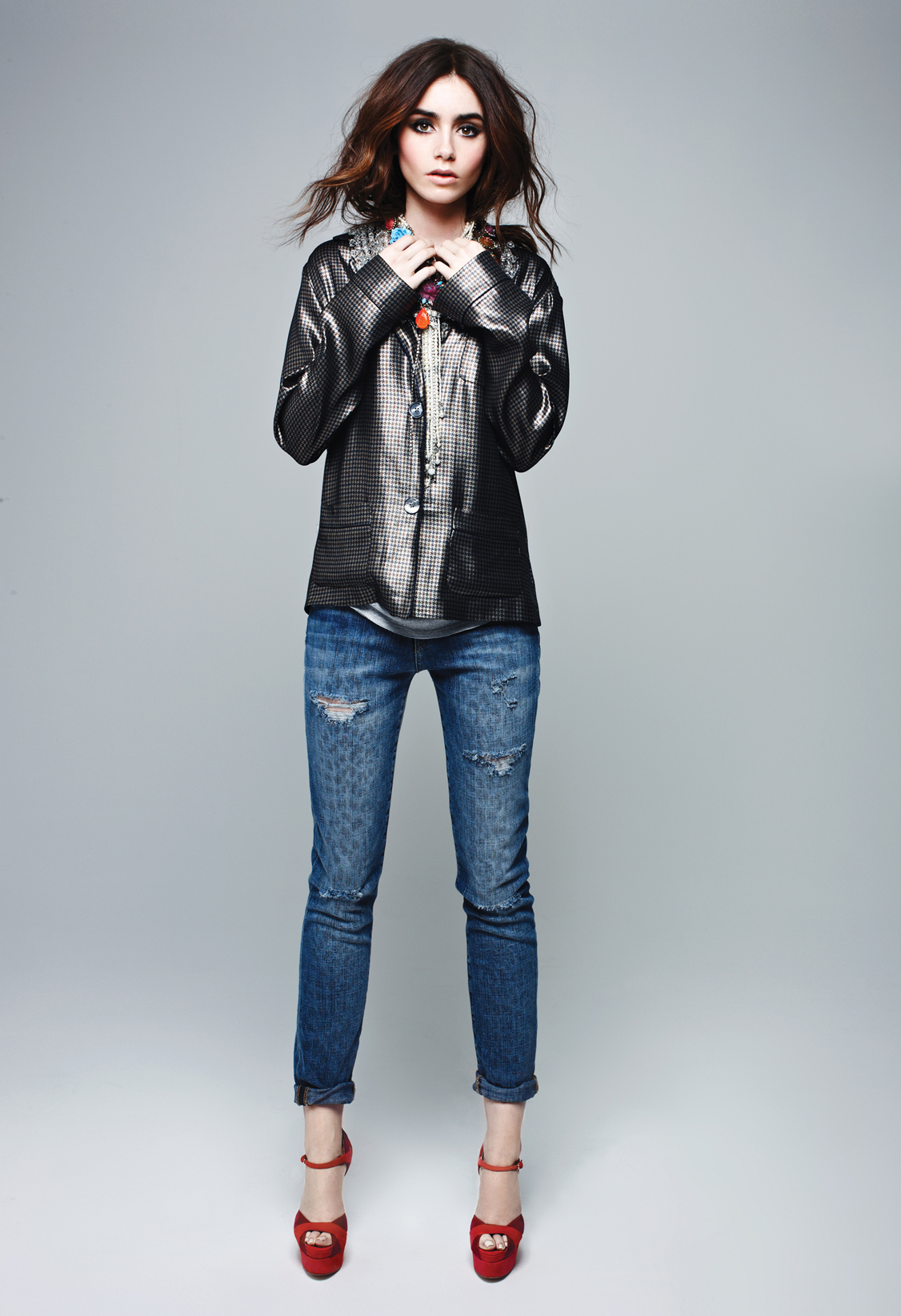 Lily Collins 2013 : Lily Collins: Elle Magazine 2013 -03