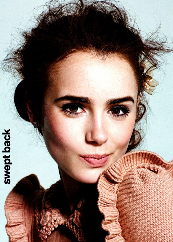 Lily Collins photoshoot for Glamour Magazine