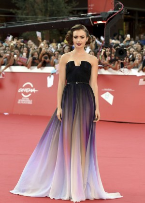 Lily Collins - 'Love, Rosie' Premiere during the 9th Rome Film Festival in Italy