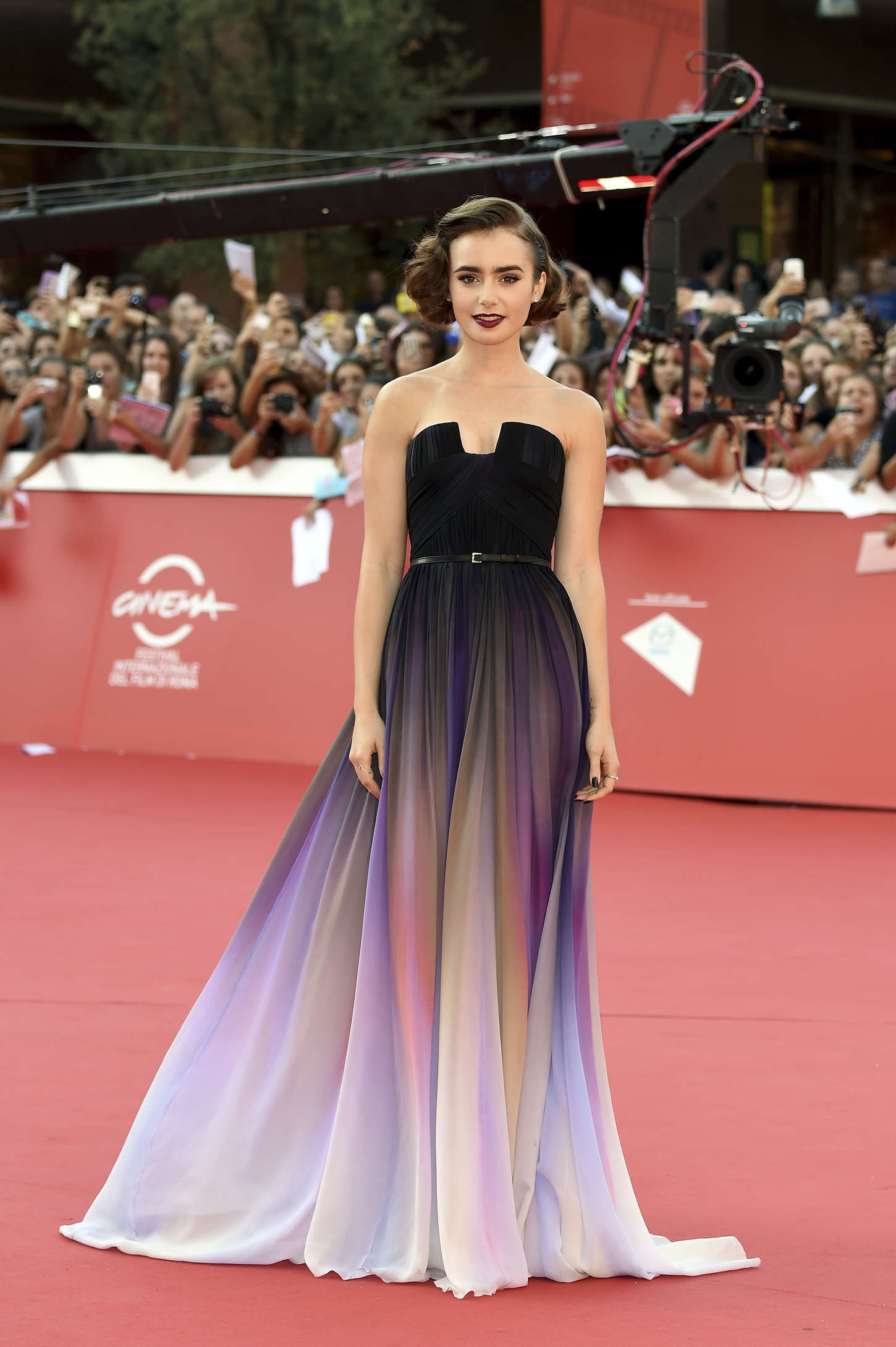 Lily Collins Love Rosie Premiere 2014 Rome Film Festival