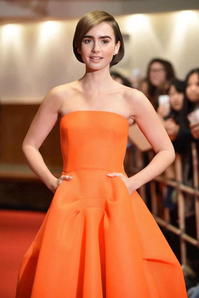 "Lily Collins - ""Love, Rosie"" Premiere in Tokyo"
