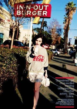Lily Collins: Lucky Magazine -01