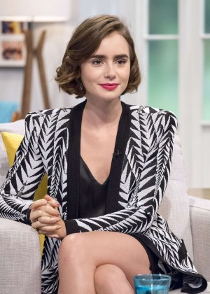 Lily Collins on Lorraine Show in London