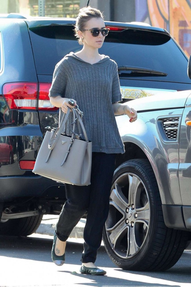 Lily Collins Style out in West Hollywood