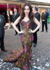 Lily Collins in a tight dress at The Blanche Neige Paris Premiere