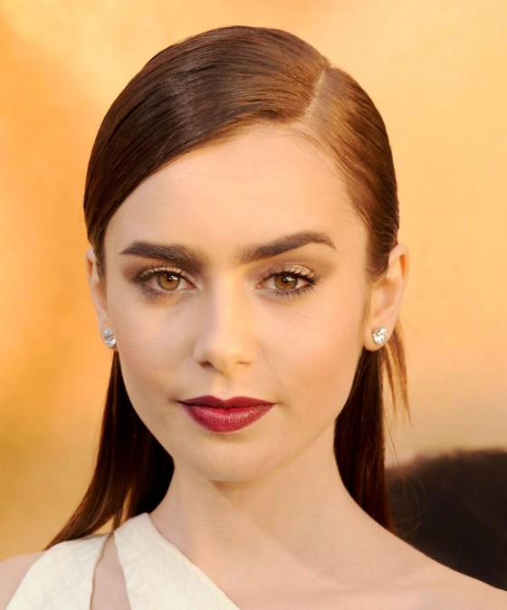 Lily Collins – The Mortal Instruments City Of Bones premiere -03