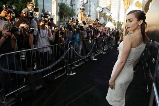 Lily Collins – The Mortal Instruments City Of Bones premiere -05