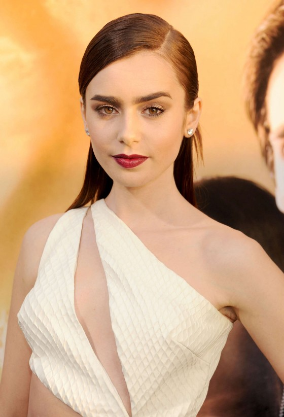 Lily Collins – The Mortal Instruments City Of Bones premiere -10