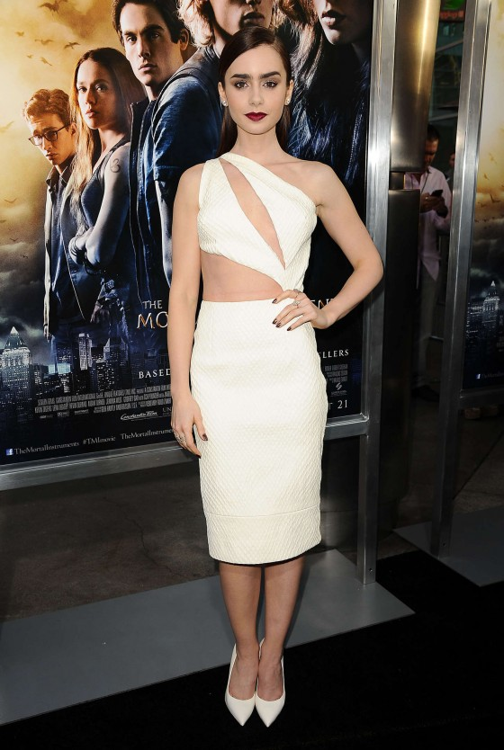 Lily Collins – The Mortal Instruments City Of Bones premiere -12