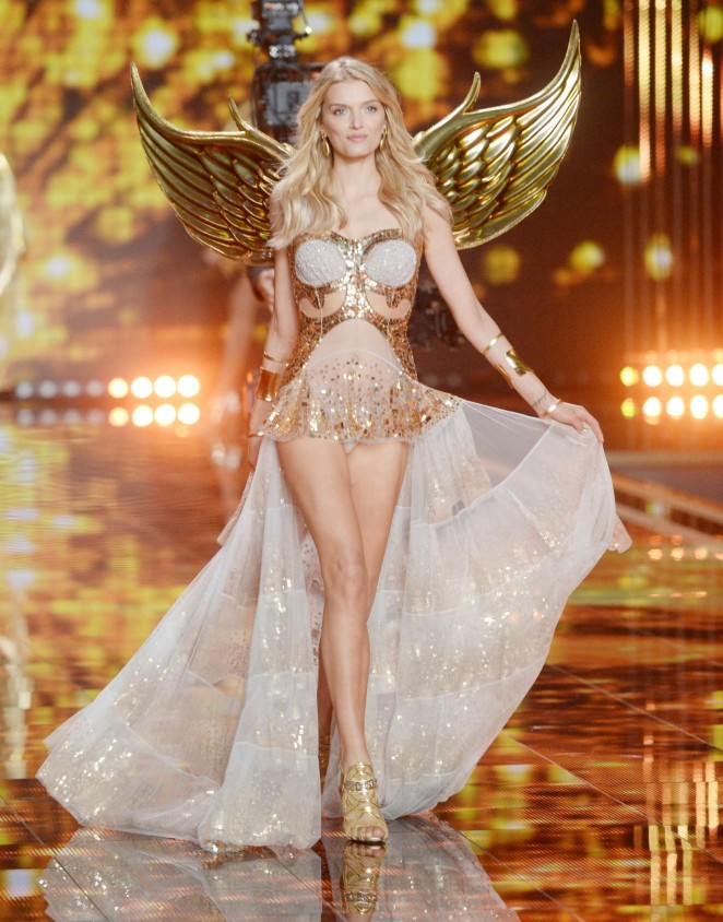 Lily Donaldson - 2014 Victoria's Secret Fashion Show Runway in NYC