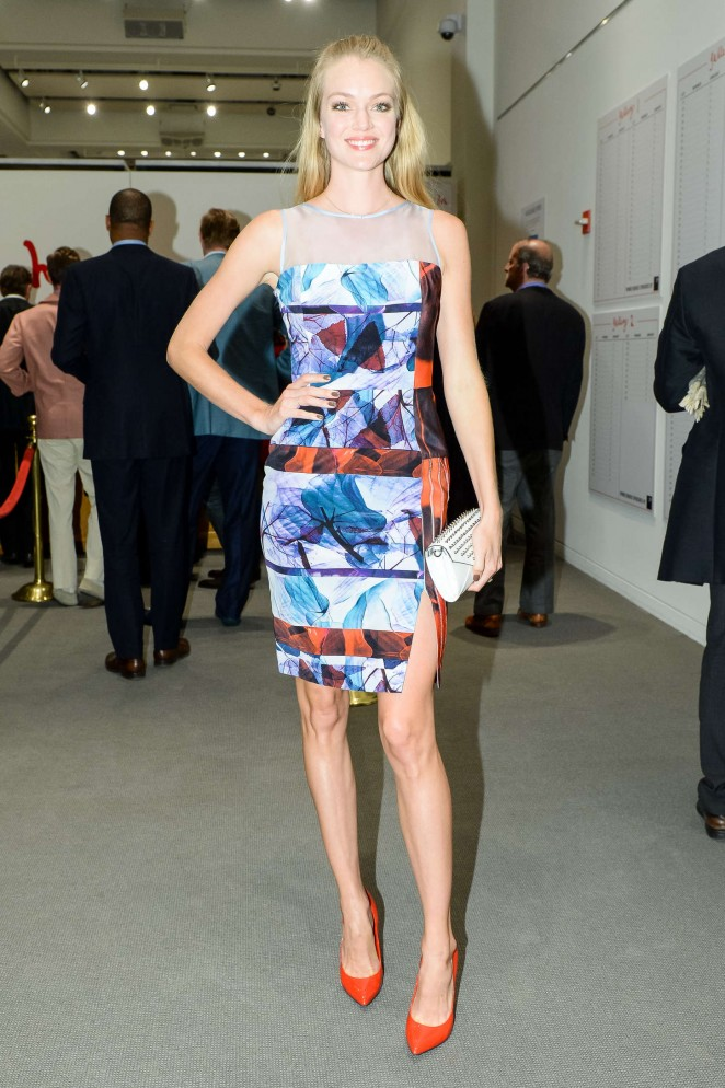 Lindsay Ellingson – 2014 Take Home A Nude Event at Sotheby's in New York City