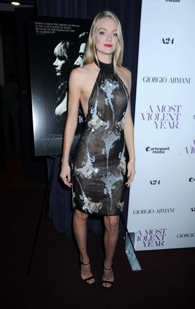 "Lindsay Ellingson at Giorgio Armani Presents ""A Most Violent Year"" Premiere in New York"