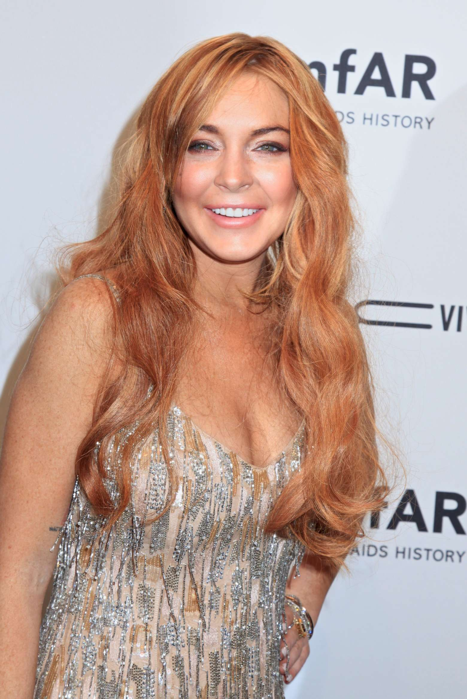 Lindsay Lohan - 2013 amfAR New York Gala-05 - GotCeleb Lindsay Lohan