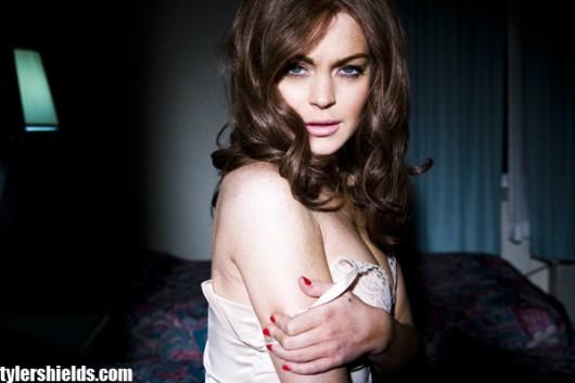 Lindsay Lohan – as Linda Lovelace in In underwear – Tyler Shields photoshoot