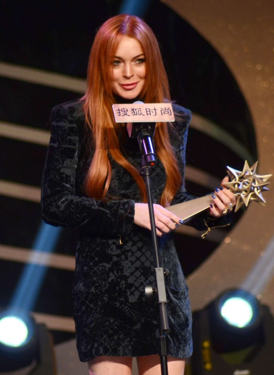 Lindsay Lohan 2014 Photos: Sohu Fashion Awards in Shanghai -03