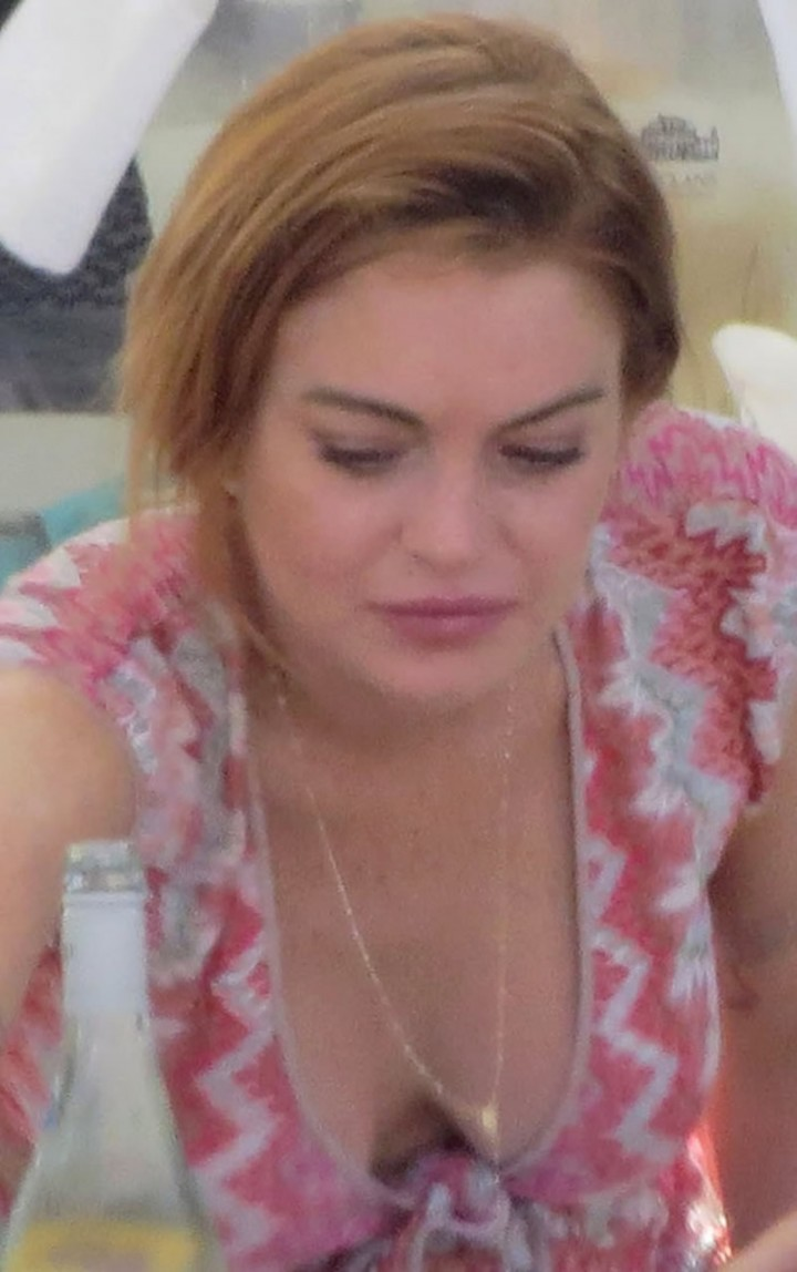 Lindsay Lohan at a beach club in Ibiza -10