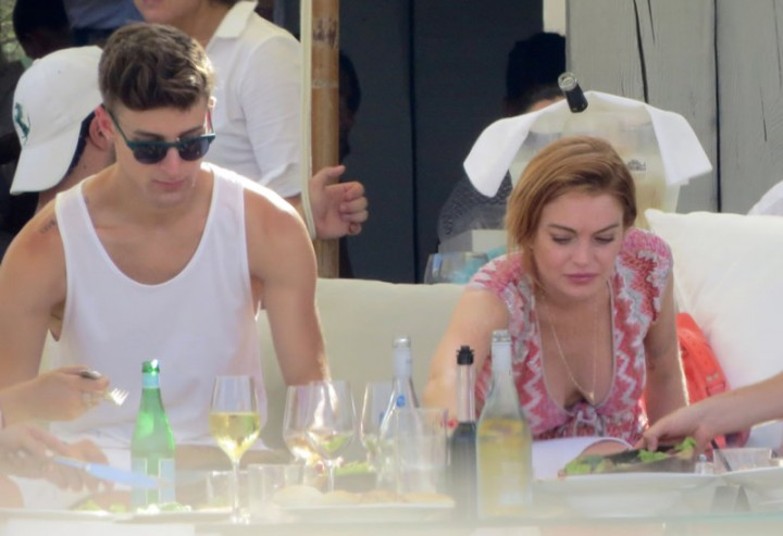 Lindsay Lohan at a beach club in Ibiza -18