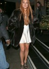 Lindsay Lohan Shows Her Long Legs In a White Mini Dress at C Restaurant in London