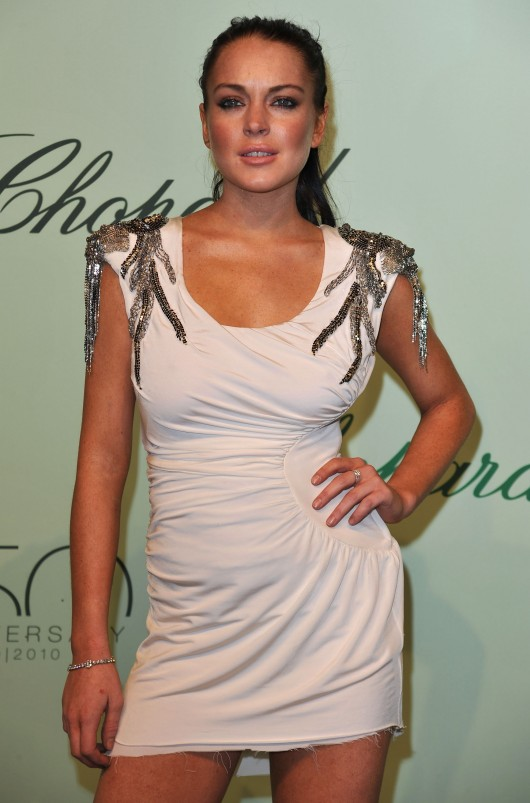 Lindsay Lohan at Chopard 150th Anniversary Party in Cannes 2010